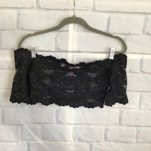 Victoria's Secret Black Lace Crop Top